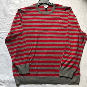 Old navy red and gray long sleeve sweater.
